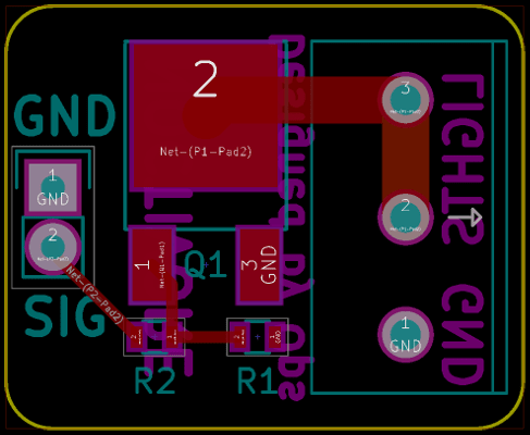 Lights Test Board Layout